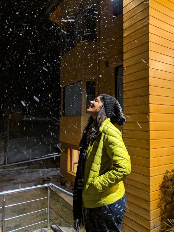 snowfall India