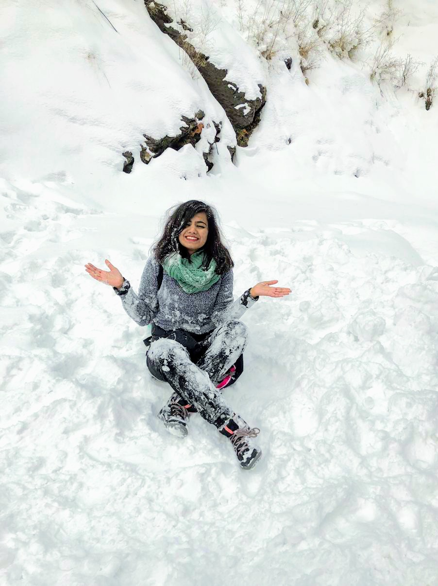 Snow in tirthan valley
