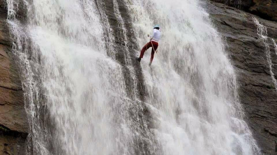 Waterfall Rappelling in Madap Waterfalls