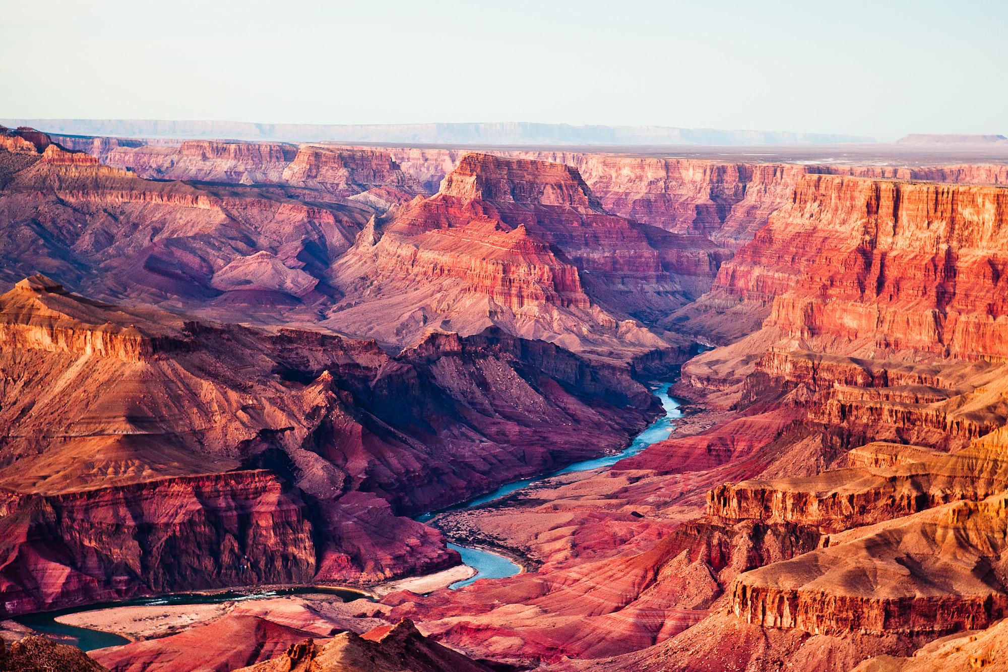 The South Rim grand canyon