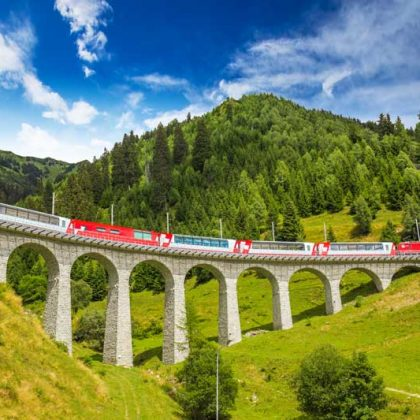 beautiful train rides in Europe